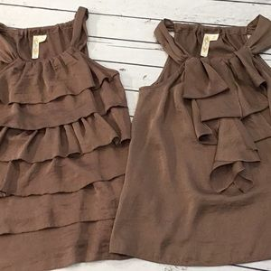 NEW! Lot of (2) Mile Chocolate Dressy Tanks Size M